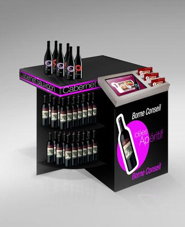 borne interactive corner counter. Black Bedroom Furniture Sets. Home Design Ideas